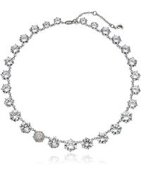 Betsey Johnson - S Blue By Cubic Zirconia Stone Collar Necklace With Pave Accented Star And Details - Lyst