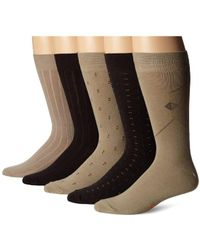 Dockers - Docker's Classics Dress Dobby Crew Socks (5 And 10 Pack) - Lyst