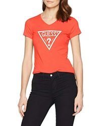 Guess - SS VN Triangle Tee T-Shirt Donna - Lyst