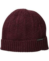 Ben Sherman - Text Beanie W Rib Knit - Lyst