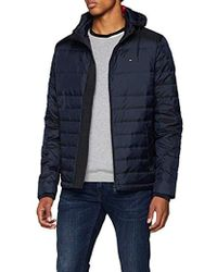 Tommy Hilfiger - Two Tone Down Hooded Bomber Jacket - Lyst