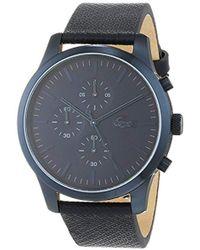Lacoste - Reloj Cronógrafo para Hombre de Cuarzo con Correa en Cuero 2010948 - Lyst