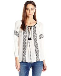 Lucky Brand - Embroidered Top In Lucky White - Lyst