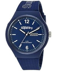 Superdry - 'urban' Quartz Plastic And Silicone Casual Watch, Color Blue (model: Syg179uu) - Lyst
