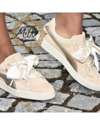 hot sale online 03a20 dbcd5 Basket Heart Up Trainers Natural