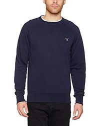 GANT - Original C-neck Sweat Sweatshirt - Lyst