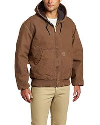 59fdcbb97b2 Carhartt Big & Tall Sherpa Lined Sandstone Jean Jacket in Brown for Men -  Lyst
