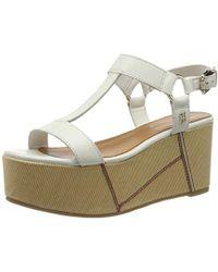 Tommy Hilfiger - 's Elevated Leather Flatform Sandal Platform - Lyst