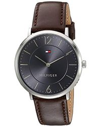 Tommy Hilfiger - 'sophisticated Sport' Quartz Stainless Steel And Leather Watch, Color:brown (model: 1710352) - Lyst