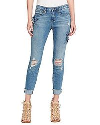 Jessica Simpson - Forever Roll Cuff Skinny Crop To Ankle Jean - Lyst