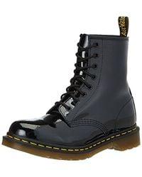 Dr. Martens - Dr. Marten's 1460 8-eye Patent Leather Boots, Black Patent Lamper, 8 B(m) Us - Lyst