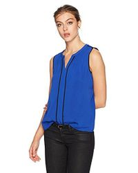Calvin Klein - Piped V-neck Top - Lyst