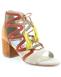 542583b6fee1 Lyst - Marc Fisher Womens Rayz Suede Almond Toe Casual Strappy ...