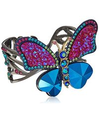 Betsey Johnson - Butterfly Colorful Butterfly Cuff Bracelet - Lyst