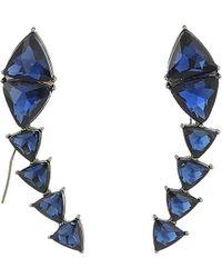 Steve Madden - S Triangle Threader Earrings - Lyst
