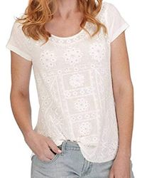 Lucky Brand - Sleeveless Embroidered Shirt Tail Tee - Lyst