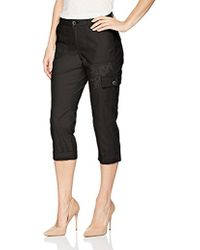 Lee Jeans - Petite Straight Fit Embroidered Bohemian Cargo Capri Pant - Lyst