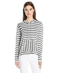 Kensie - Sweater Striped Hoodie - Lyst