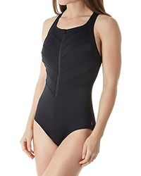Reebok - High Neck One Piece Swimsuit - Lyst