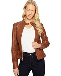 Cole Haan - Racer Jacket With Quilted Panels - Lyst