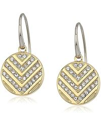 Fossil - Chevron Glitz Drop Earrings - Lyst