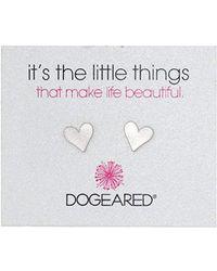 """Dogeared - """"it's The Little Things"""" Heart Post Earrings - Lyst"""