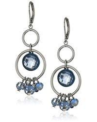 Anne Klein - Hematite Shaky Orbital Earrings - Lyst