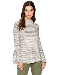 Kensie - Space Dye Punk Yarn Sweater With Bell Sleeve - Lyst