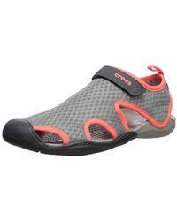 2a45758f8707 Crocs™ Swiftwater Mesh Sandal W Flat in Blue - Lyst