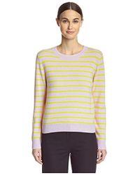 Cynthia Rowley - Cashmere Striped Sweater - Lyst