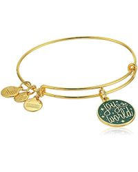 ALEX AND ANI - Words Are Powerful, Ewb Bangle Bracelet - Lyst