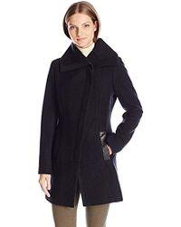 SOIA & KYO - Jana Diagonal Wool Coat - Lyst