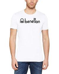 Benetton - T-shirt Grey - Lyst