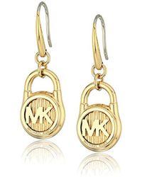 Michael Kors - Hamilton -tone Drop Earrings - Lyst