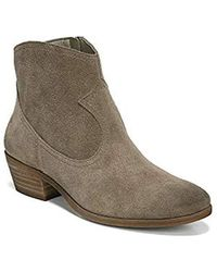38c36f7bc Lyst - Sam Edelman Petty Lowcut Suede Ankle Boots in Natural