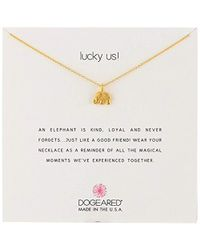 "Dogeared - Lucky Us Chain Necklace, 16"" - Lyst"