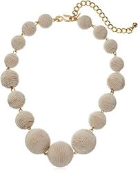"""Kenneth Jay Lane - White Thread Ball Necklace, 17"""" + 4"""" Extender - Lyst"""