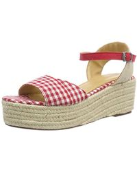 61f29fd63d27 Esprit  s Nea Wedge Platform Sandals in Pink - Lyst