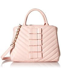 5a7b6ccd0b Lyst - Betsey Johnson Mini Bow Quilted Satchel in Pink
