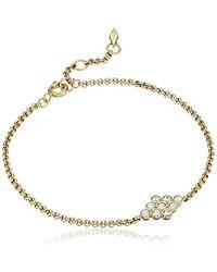 Fossil - Vintage Glitz Diamond-shaped Bracelet - Lyst