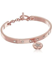 BCBGeneration - Rose Gold/crystal Star Toggle Bracelet - Lyst