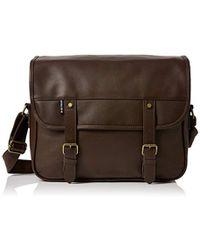 Ben Sherman - S Cove Messenger Shoulder Bag Brown (dark Brown) - Lyst