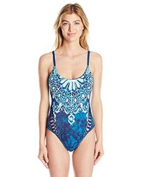 Lucky Brand - Junior's Batik Chic High One Piece Swimsuit - Lyst