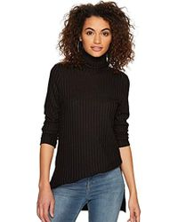 Kensie - Rayon Rib Top With Cowl Neck - Lyst