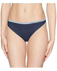 a3b1f83bfac Lyst - Calvin Klein Ck Black Thong in Natural