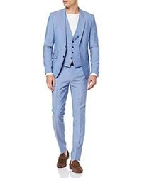 528858bc2 HUGO 'Adris/Heibo' | Extra Slim Fit, Stretch Cotton Blend Suit in Blue for  Men - Lyst