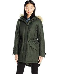 Vero Moda - Sandra 3/4 Length Parka With Detachable Faux Fur On Hood - Lyst