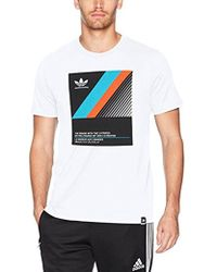 93569ecb Lyst - adidas Originals Skateboarding Floral T-shirt in White for Men
