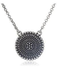 Lucky Brand - S Indigo Trail Pendant Necklace - Lyst
