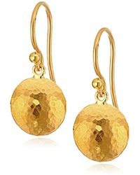 "Gurhan - ""lentil"" 24k Gold Hook Drop Earrings - Lyst"